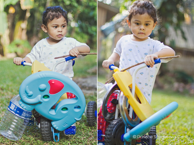 Toddler Riding Bicycle, Baby Photography, Darlene Sanguenza-Cano, Baby Photography, Fly Little Angel, Toddler, Parenting, Philippines, Bohol, James Matteo Cano,