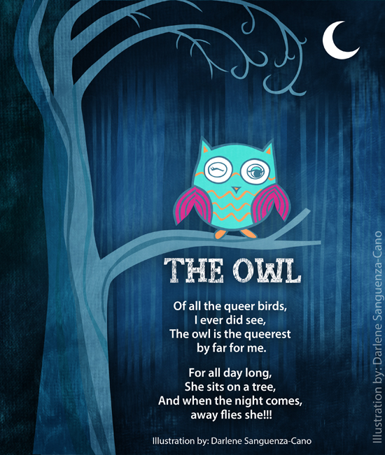the owl poem with illustration
