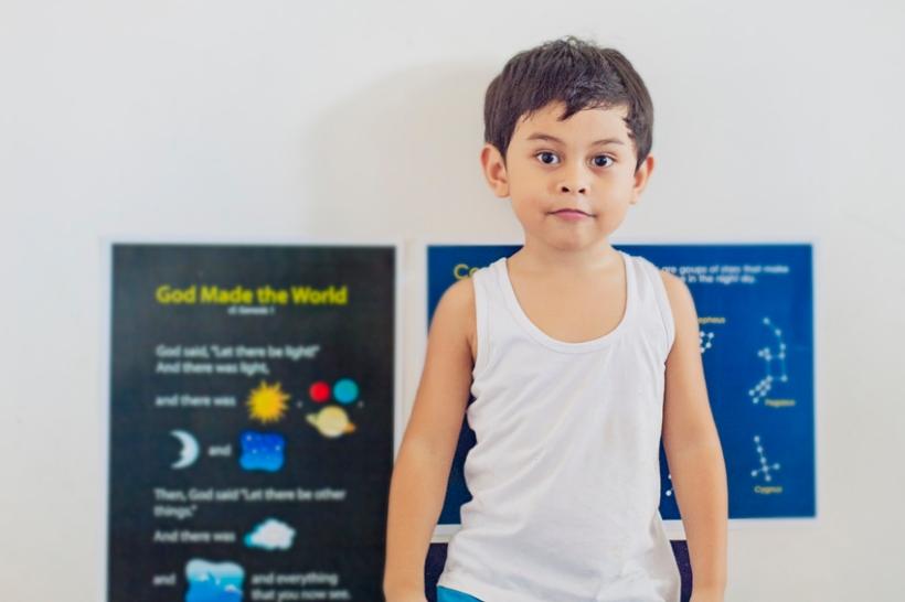 Kinder 1 homeschooled boy, Bohol,  Philippines